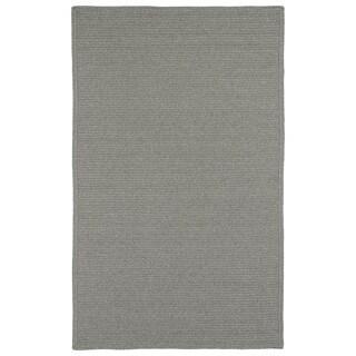 Malibu Indoor/ outdoor Woven Grey Rug - 5' x 8'