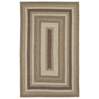 Malibu Indoor/ outdoor Woven Mocha Rug - 5'x8'