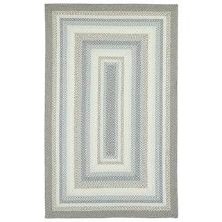 Malibu Indoor/ outdoor Woven Grey Rug (5'x8')