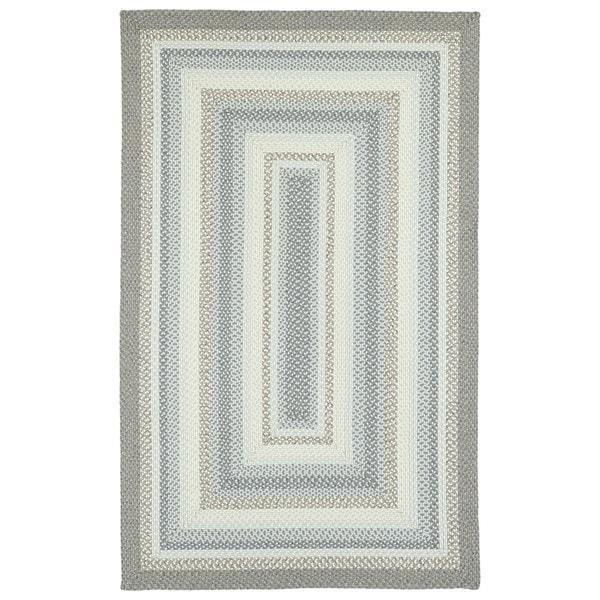 Malibu Indoor/ Outdoor Woven Gray Area Rug