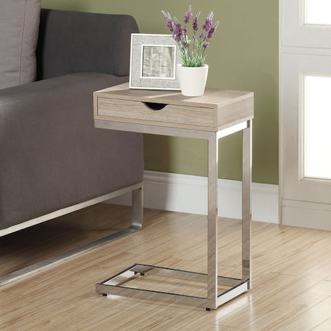 Porch & Den Pacific Natural Reclaimed-look Chrome Metal Accent Table