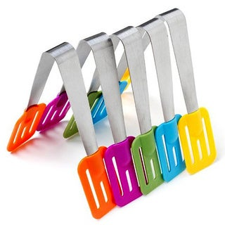 Assorted Color Multi-use Slotted Mini Tongs (Set of 5)