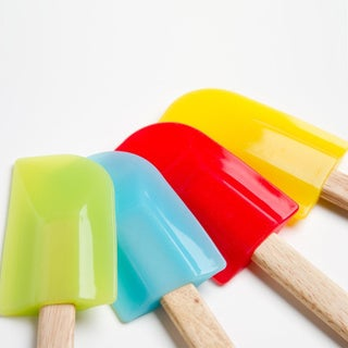 Assorted Color Wood Handle Silicone Spatulas (Set of 4)