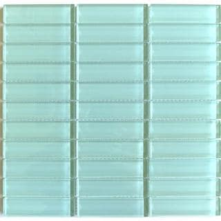 Lush Surf Sea Foam Green 1 x 4-inch Glass Tile (pack of 10)