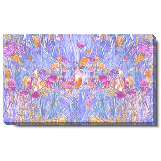 Studio Works Modern 'Spring Garden Bloom - Pastel Lilac' Gallery Wrapped Canvas