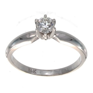 Victoria Kay 14k Gold 1/3ct TDW Certified Diamond Engagement Ring