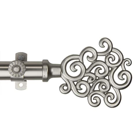 InStyleDesign Cloud Adjustable Satin Nickel Curtain Rod