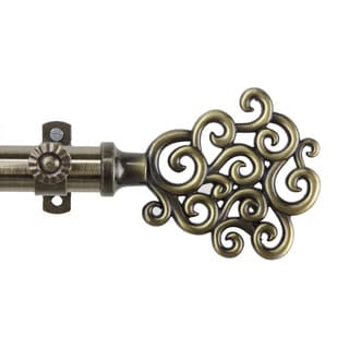 Cloud Adjustable Antique Brass Curtain Rod