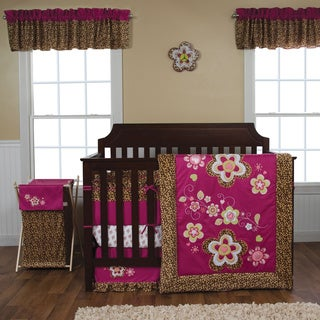 Shop Trend Lab Berry Leopard 5 Piece Crib Bedding Set