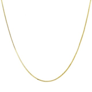 Sterling Essentials Italian 14k Gold over Silver 1 mm Box Chain (16-30 Inch)