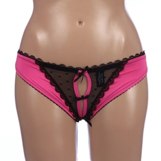 Rene Rofe Adult Pink Frills Panty with Back Bows