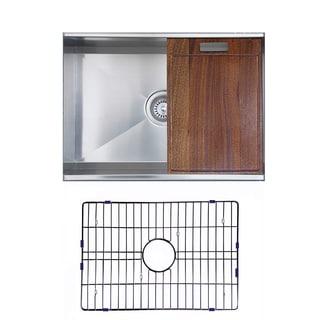Ukinox DSL620 Zero Radius Single Basin Stainless Steel Undermount Kitchen Sink