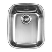 Ukinox UN376 Single Basin Stainless Steel Dual Mount Kitchen Sink