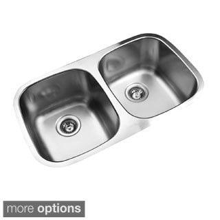 Ukinox D345.50.50.9 50/50 Double Basin Stainless Steel Undermount Kitchen Sink