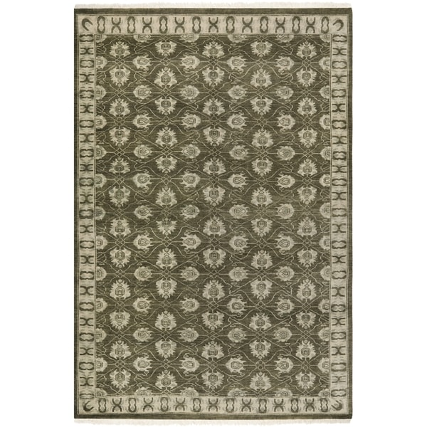 Safavieh Hand-knotted Oushak Grey Wool Rug (9' x 12')