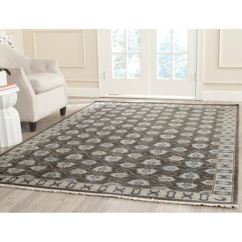Safavieh Couture Handmade Oushak Traditional Charcoal Wool Rug - 6' x 9'