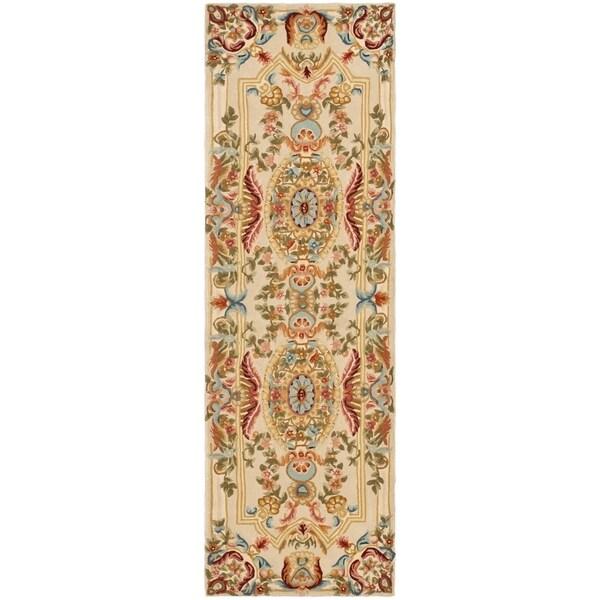 Safavieh Handmade Savonnerie Giusi Traditional Oriental Wool Rug