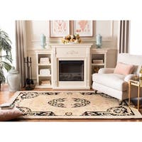 Safavieh Hand-made Savonnerie Ivory/ Gold Wool Rug - 5' x 8'