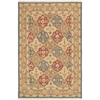 Safavieh Hand-woven Sumak Taupe Wool Rug (6' x 9')