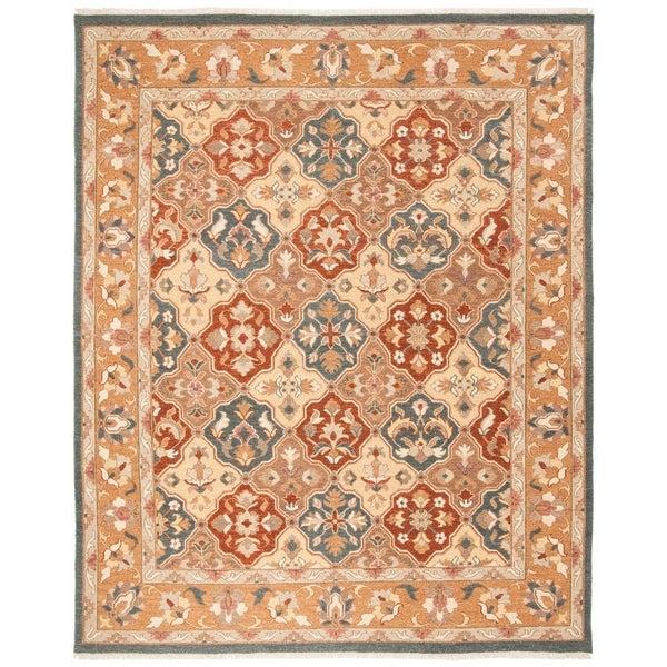 Safavieh Hand-woven Sumak Taupe Wool Rug - 8' x 10'