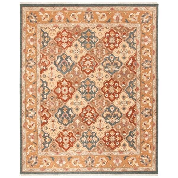 Safavieh Hand-woven Sumak Taupe Wool Rug - 9' x 12'