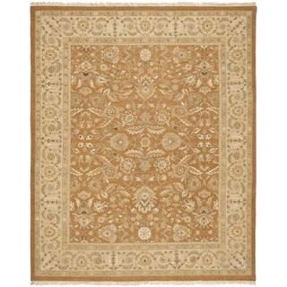 Safavieh Hand-woven Sumak Copper/ Beige Wool Rug (6' x 9')