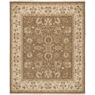 Safavieh Hand-woven Sumak Brown/ Beige Wool Rug (8' x 10')