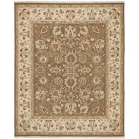 Safavieh Hand-woven Sumak Brown/ Beige Wool Rug - 8' x 10'