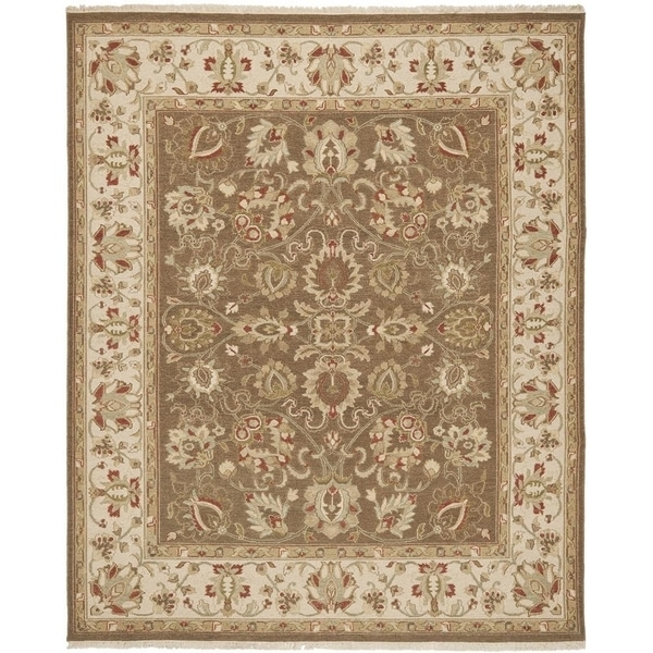 Safavieh Hand-woven Sumak Brown/ Beige Wool Rug - 8' x 10'