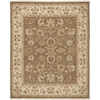 Safavieh Hand-woven Sumak Brown/ Beige Wool Rug - 9' x 12'