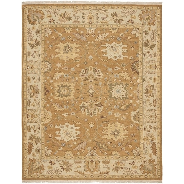 Safavieh Hand-woven Sumak Copper/ Beige Wool Rug - 8' x 10'