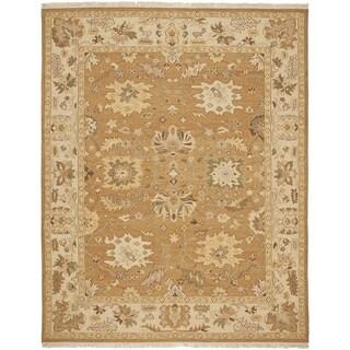 Safavieh Hand-woven Sumak Copper/ Beige Wool Rug (9' x 12')