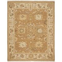Safavieh Hand-woven Sumak Copper/ Beige Wool Rug - 9' x 12'