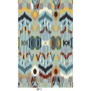 Safavieh Hand-woven Sumak Blue Wool Rug (6' x 9')