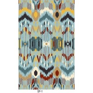 Safavieh Hand-woven Sumak Blue Wool Rug - 6' x 9'