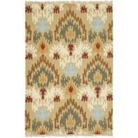 Safavieh Hand-woven Sumak Sage Wool Rug - 4' x 6'