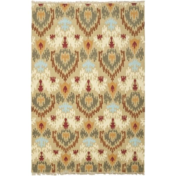 Safavieh Hand-woven Sumak Sage Wool Rug (6' x 9')