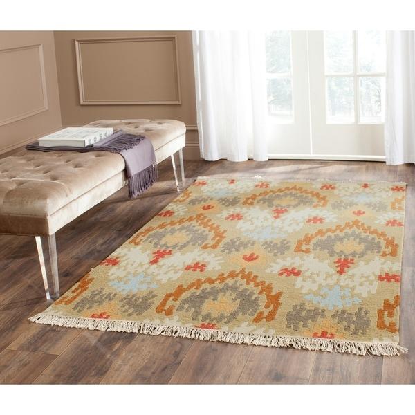 Safavieh Hand-woven Sumak Sage Wool Rug - 9' x 12'
