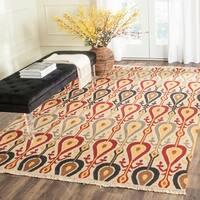 Safavieh Hand-woven Sumak Ivory Wool Rug - 8' x 10'