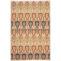Safavieh Hand-woven Sumak Ivory Wool Rug (9' x 12')