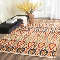 Safavieh Hand-woven Sumak Ivory Wool Rug - 9' x 12'