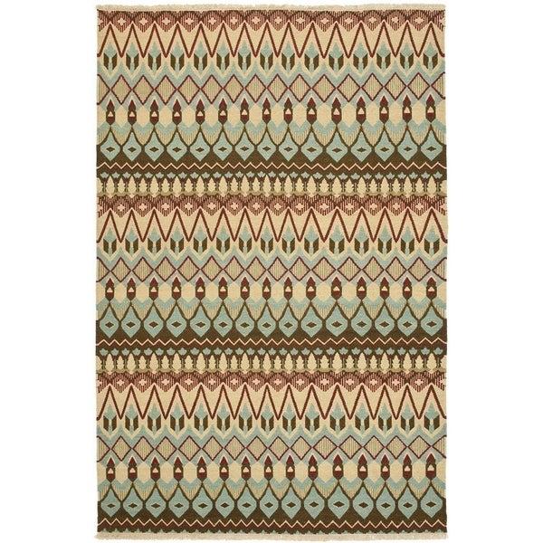 Safavieh Hand-woven Sumak Multi Wool Rug - 8' x 10'