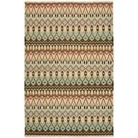 Safavieh Hand-woven Sumak Multi Wool Rug - 9' x 12'
