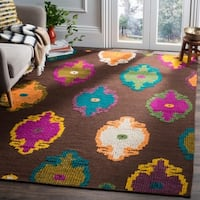 Safavieh Hand-woven Suzani Brown Wool Rug - 9' x 12'