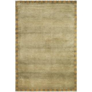 Safavieh Hand-knotted Tibetan Border Sage/ Green Wool Rug (5' x 7'6)