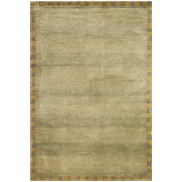 Safavieh Hand-knotted Tibetan Border Sage/ Green Wool Rug - 8' x 10'