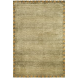 Safavieh Hand-knotted Tibetan Border Sage/ Green Wool Rug (9' x 12')