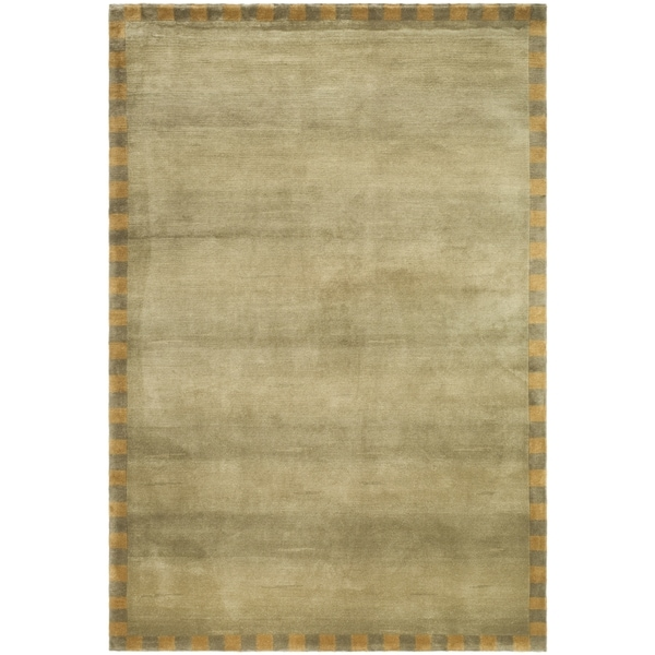 Safavieh Hand-knotted Tibetan Border Sage/ Green Wool Rug (9' x 12')