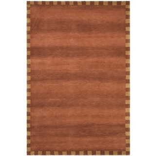 Safavieh Hand-knotted Tibetan Border Rust Wool Rug (10' x 14')