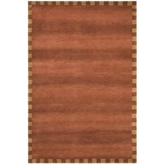 Safavieh Hand-knotted Tibetan Border Rust Wool Rug (8' x 10')